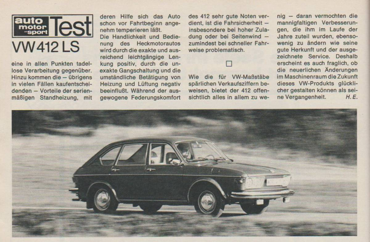 Test VW 412 LS - S. 48